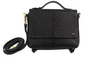 Gigi Crossbody in Black Python