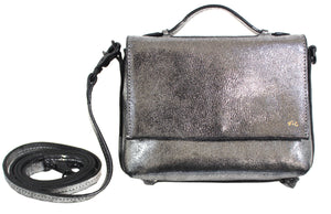 Gigi Crossbody in Washed Silver