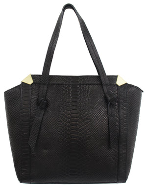 Portrait Shopper in Black Python