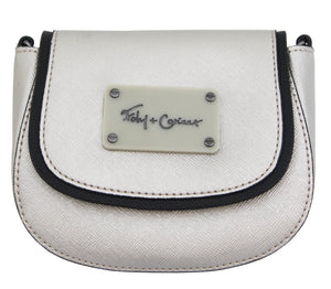 CITY ECLIPSE MINI SADDLE BAG IN SILVER SURPRISE