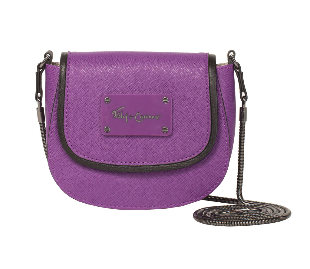 CITY ECLIPSE MINI SADDLE BAG IN GRAPE YU