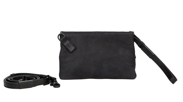 CACHE CROSSBODY IN  BLACK PYTHON