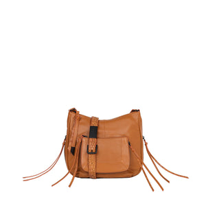 Tonya Large Crossbody in Honey Brown