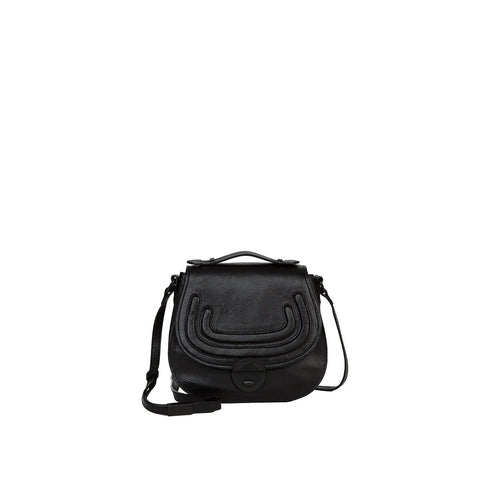 STEPHI SADDLE BAG IN BLACK