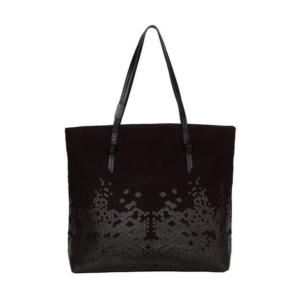 VENUS CANVAS TOTE IN BLACK/BLACK