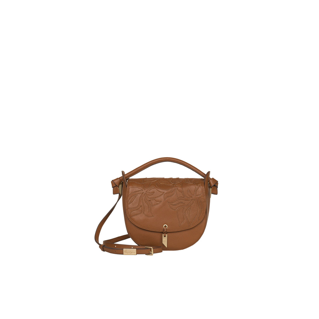 LILLI SATCHEL IN HONEY BROWN