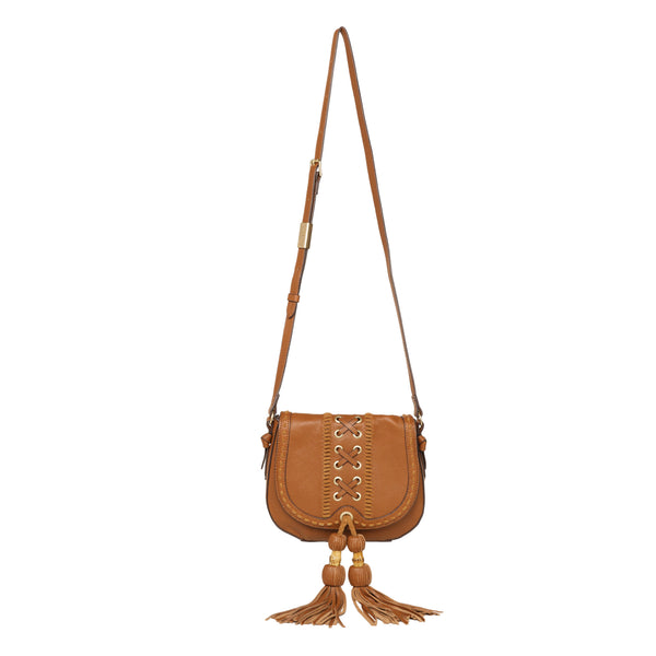 SARABI SADDLE BAG IN HONEY BROWN