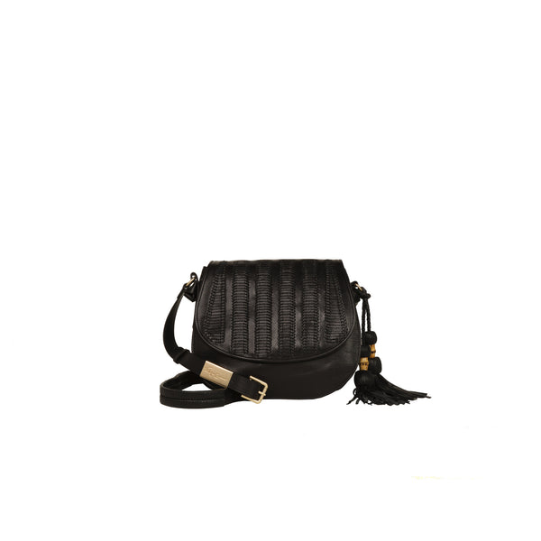 CHARLOTTE SADDLE BAG IN BLACK