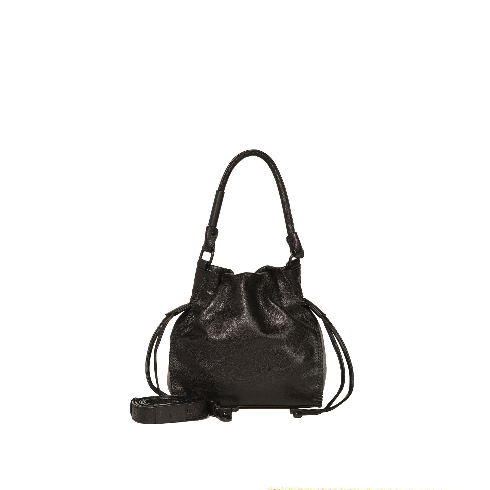 AMI DRAWSTRING TOTE IN BLACK