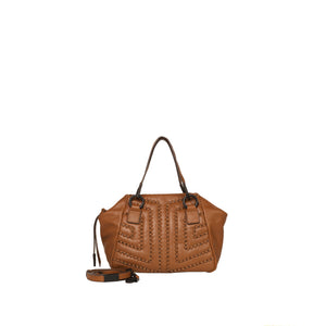 Zoe Satchel in Honey Brown