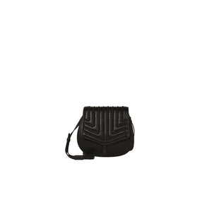 Zoe Saddle Bag in Black