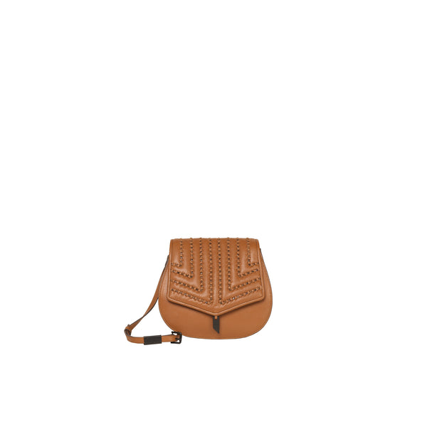 ZOE SADDLE CROSSBODY IN HONEY BROWN