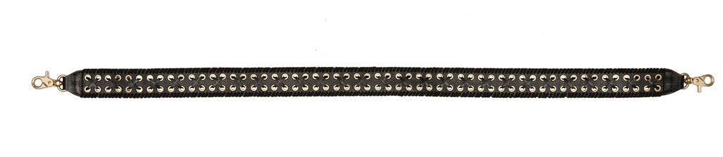 CHARLOTTE GUITAR STRAP IN BLACK