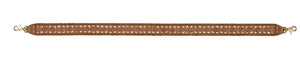 Charlotte Guitar Strap in Honey Brown