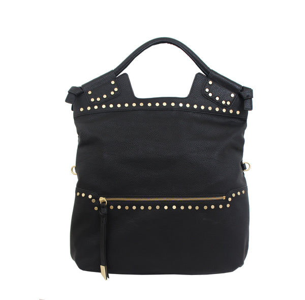 STARGAZER MID CITY TOTE  IN BLACK