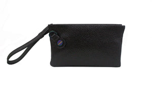 Prive Wristlet in Black Patent