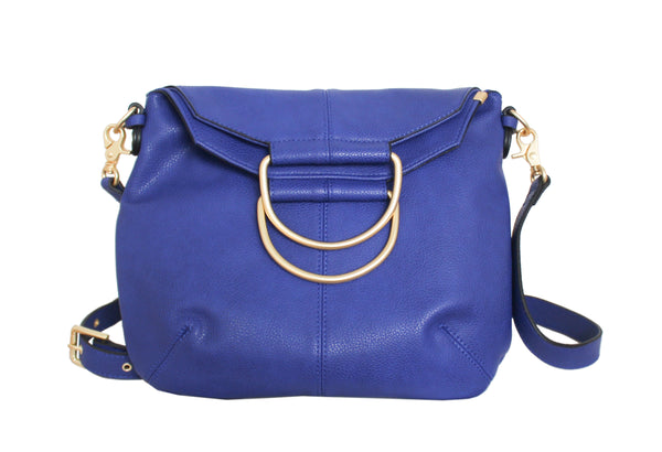 CITY INSTINCTS RING SATCHEL IN COBALT