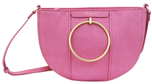 Limelight City Crescent Crossbody in Rose