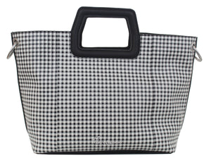 Mini Tate Tote in Gingham