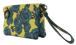 Prive Wristlet in Lemon & Teal
