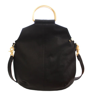 Kayla Foldover Tote in Black