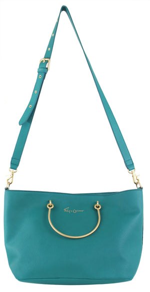 Harper Ring Tote in Peacock