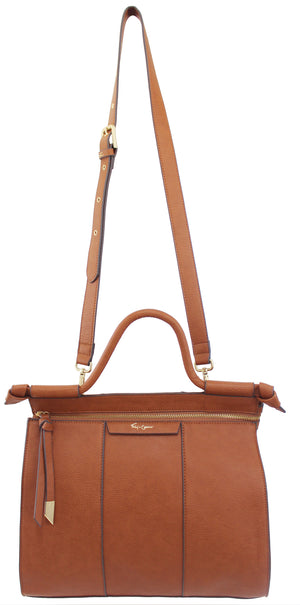 Garden Transport Lione Satchel in Cognac