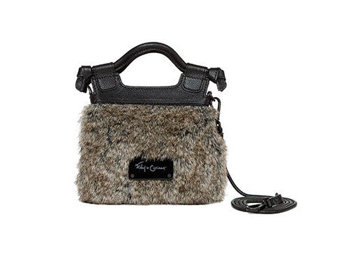 PHEOBE TINY CITY CROSSBODY IN NATURAL FUR