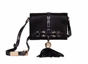 Bo Crossbody in Black & Gold