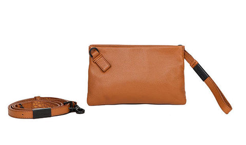 CACHE CROSSBODY IN HONEY BROWN