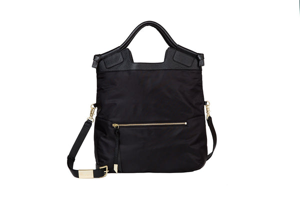 NIKKI CITY TOTE IN BLACK NYLON