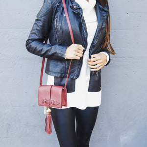 Bo Crossbody in Bordeaux