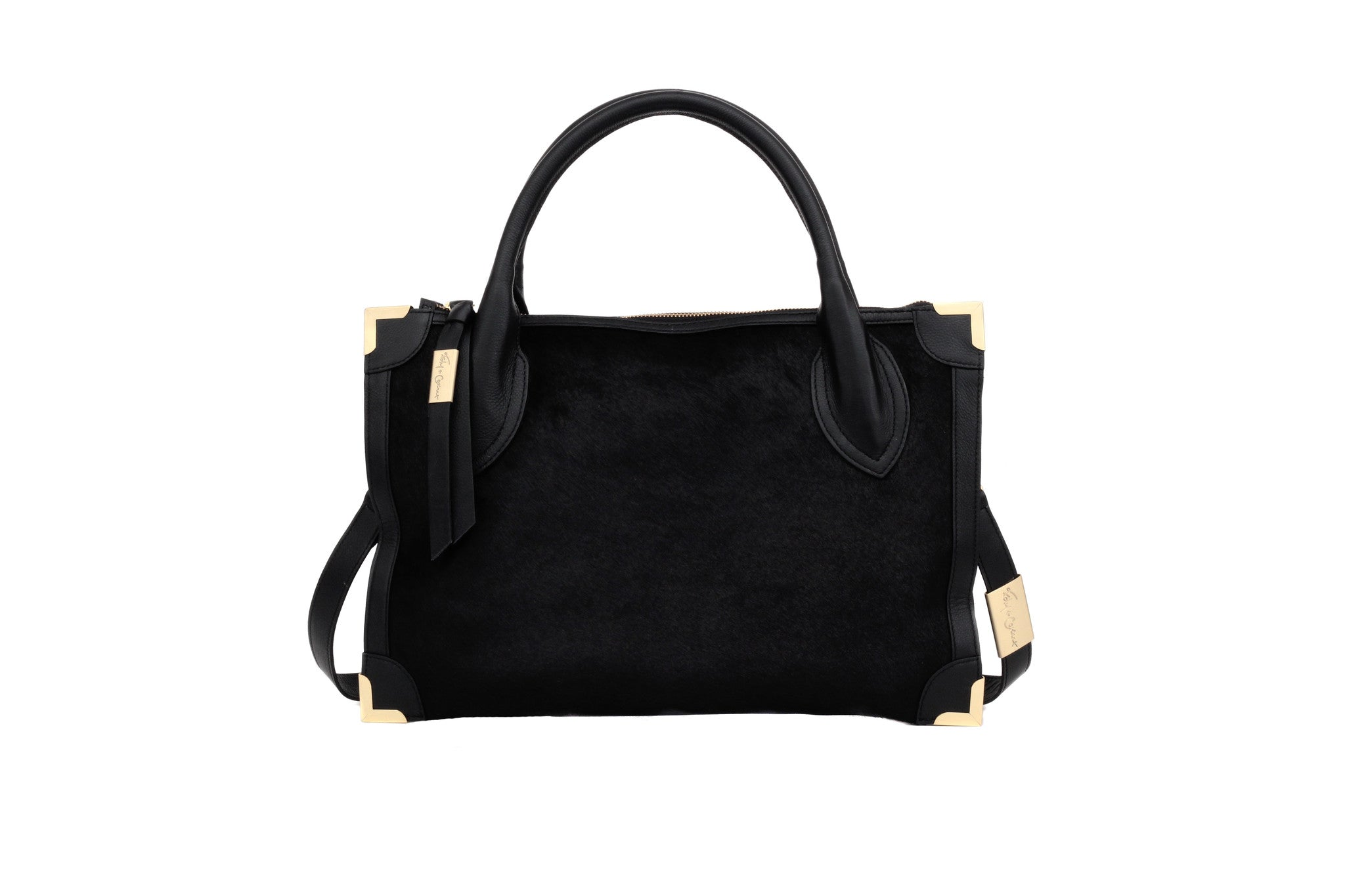 FC FRANKIE SATCHEL IN BLACK HAIRCALF