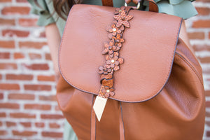 Dahlia Backpack in Honey Brown