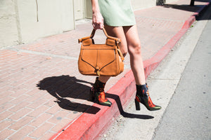 Brittany Satchel in Honey Brown