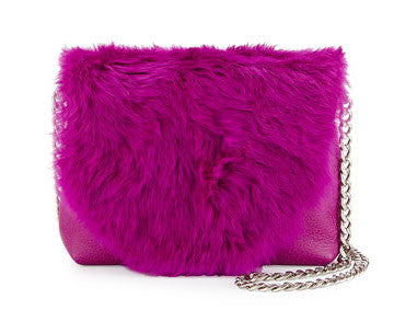 FC STARDUST MINI CROSSBODY IN FUCHSIA RABBIT