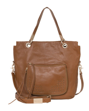 Stevie Tote in Honey Brown