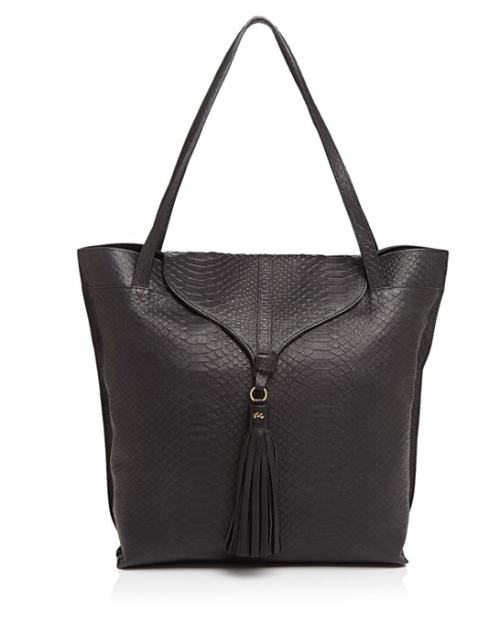 ARROW TOTE IN BLACK PYTHON