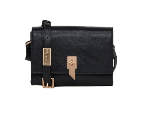 DIANE FLAP CROSSBODY IN BLACK