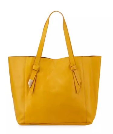 ASHLYN TOTE IN MANGO TEA CHESTNUT CRACKLE