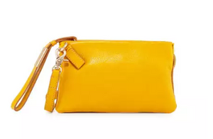 Cache Wristlet in Mango Tea & Honey Brown