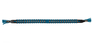 LA TRENZA BRAID GUITAR STRAP IN BLACK & TURQUOISE