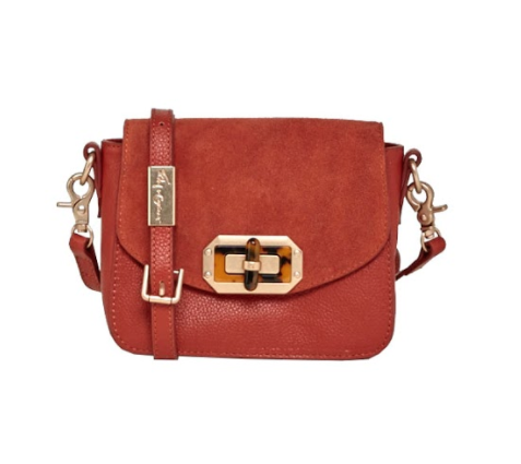 WHITNEY CROSSBODY IN RUST SUEDE