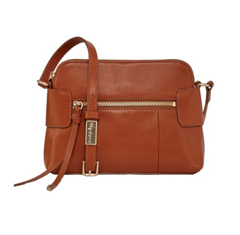 EMMA CROSSBODY IN HONEY BROWN