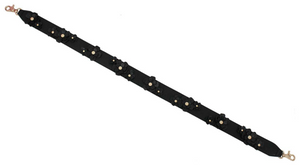3D Flower Clusters Guitar Strap in Black