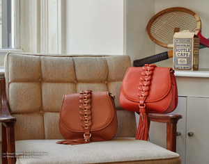 La Trenza Saddle Bag in Honey Brown