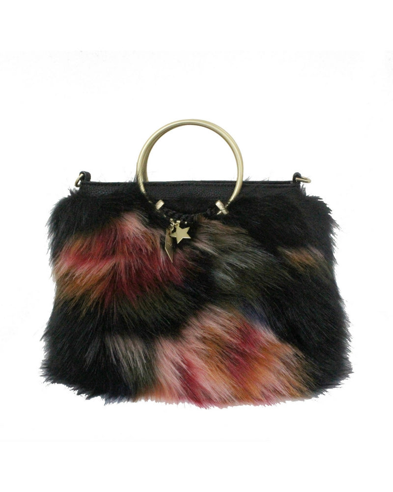 CITY BLOOMS RING SATCHEL IN MULTI FUR