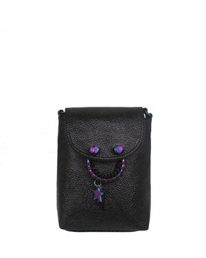CITY INSTINCTS BLAKE CROSSBODY IN BLACK PATENT
