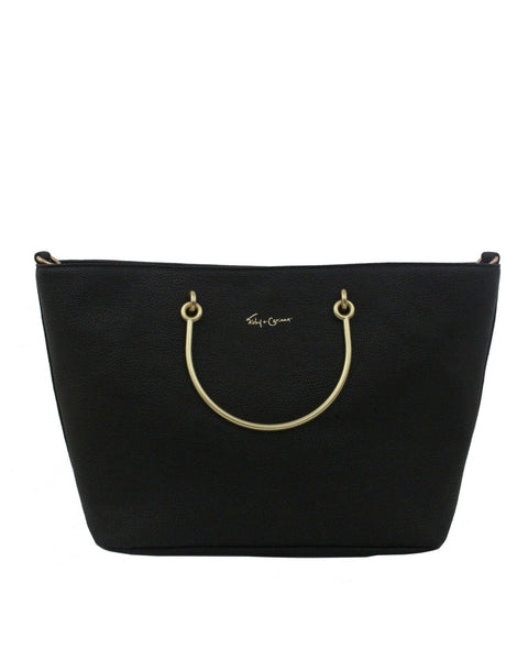 LIMELIGHT CITY RING TOTE IN BLACK