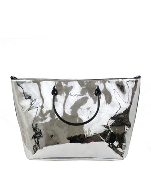 Limelight City Ring Tote in Silver